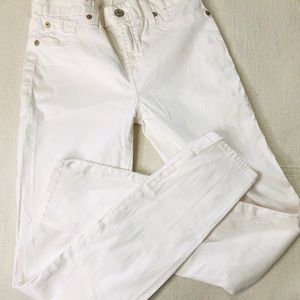 7 FOR ALL MANKIND B(Air) OFF WHITE SKINNY JEANS